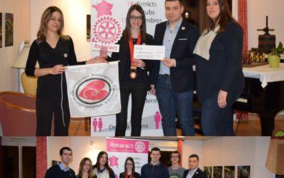Remise de don à l'Association Cassandra par le Rotaract de Niort