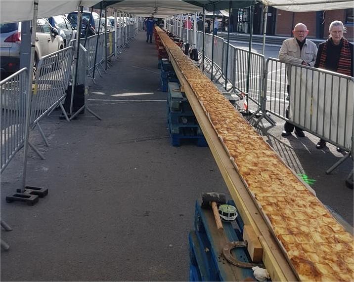 Record du Monde de la tarte au Maroilles